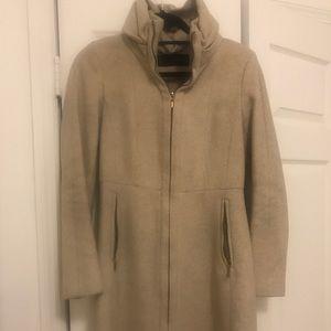 Zara Cream Double Breasted Coat
